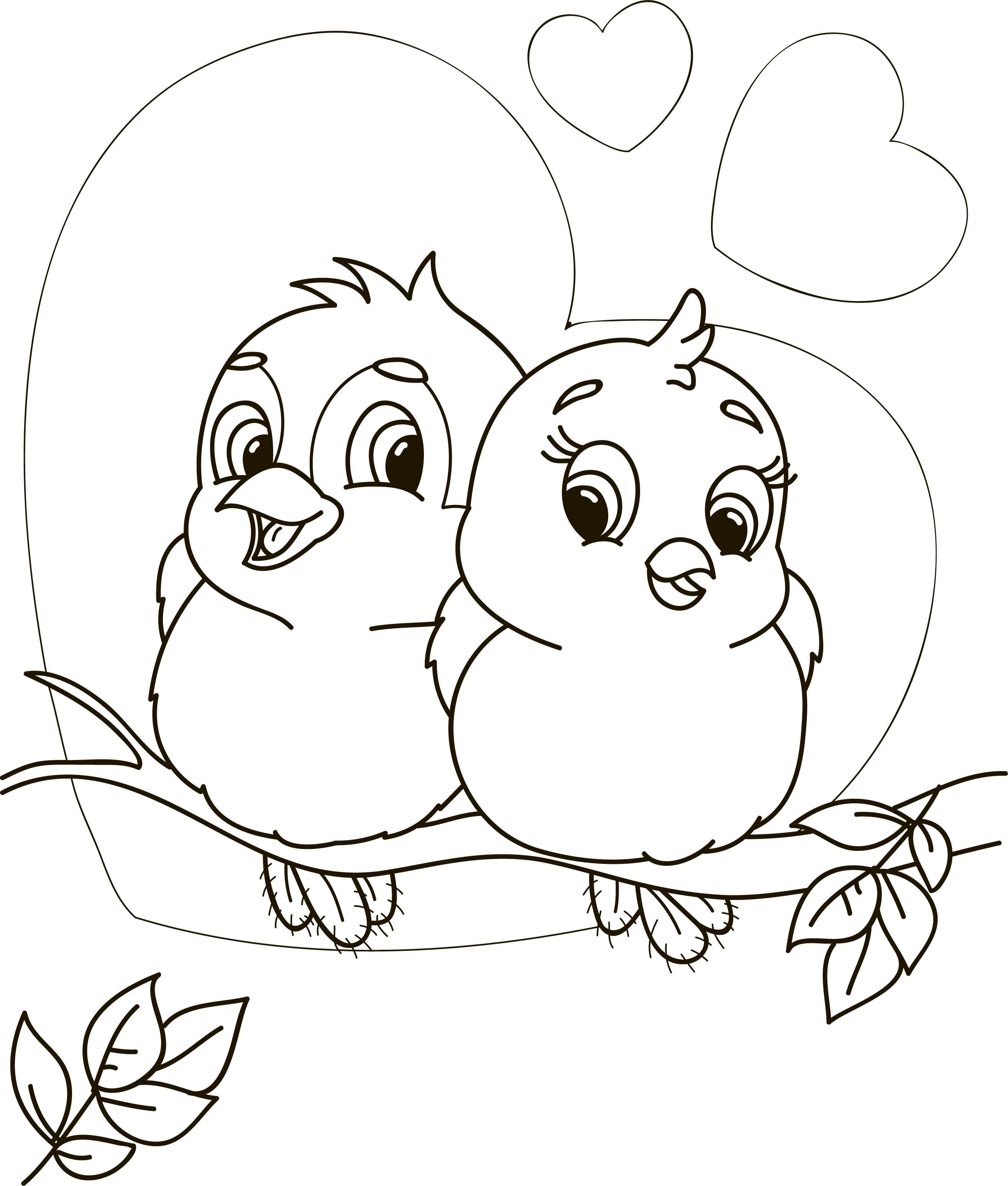 San valentino disegni da colorare per bambini for Disegni di animali per bambini
