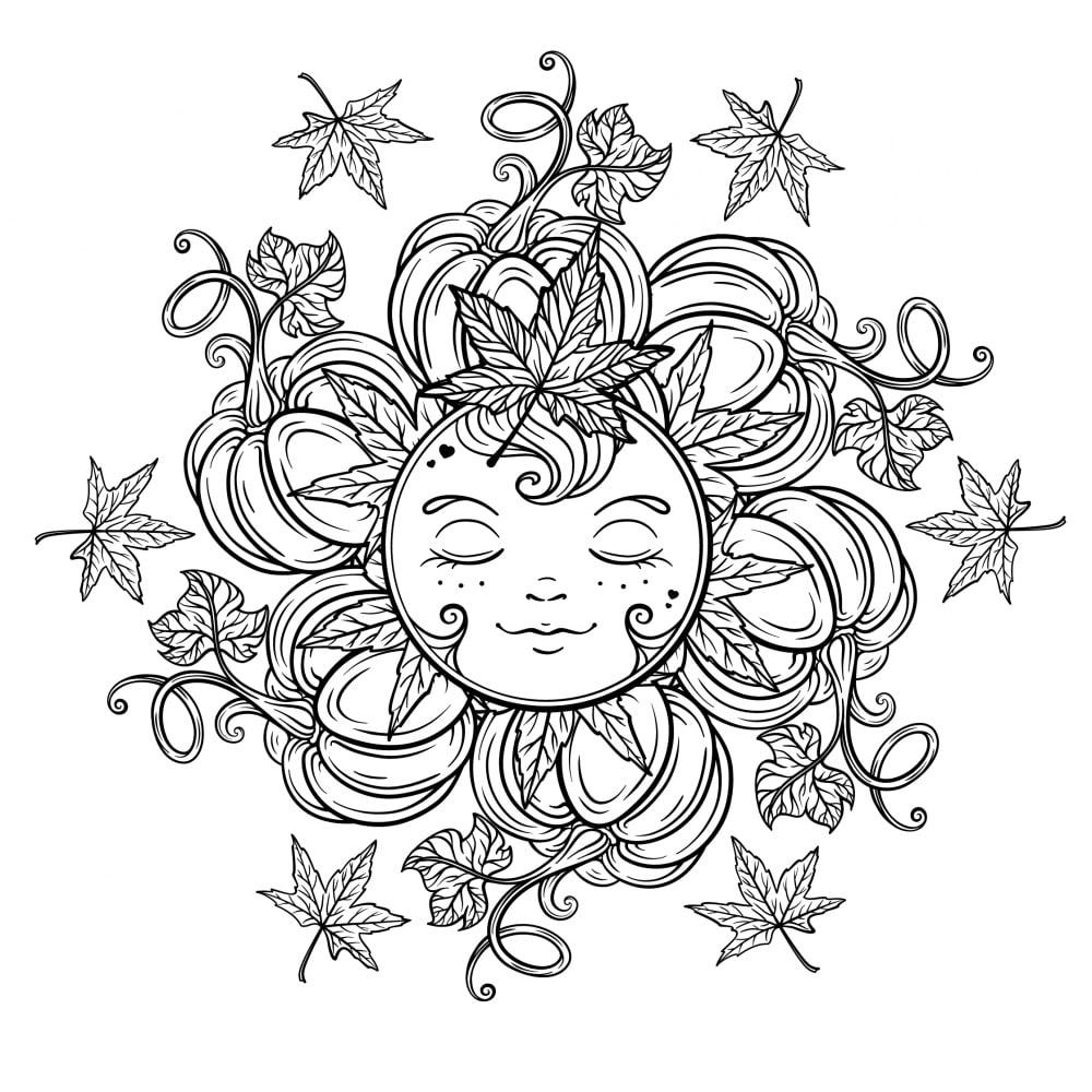 Disegni Da Colorare Mandala Da Stampare.10 Mandala Autunnali E Antistress Da Colorare Con Immagini Nostrofiglio It