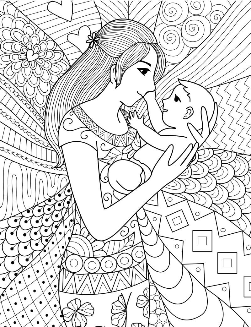 Festa Della Mamma Disegni Da Colorare Nostrofiglioit