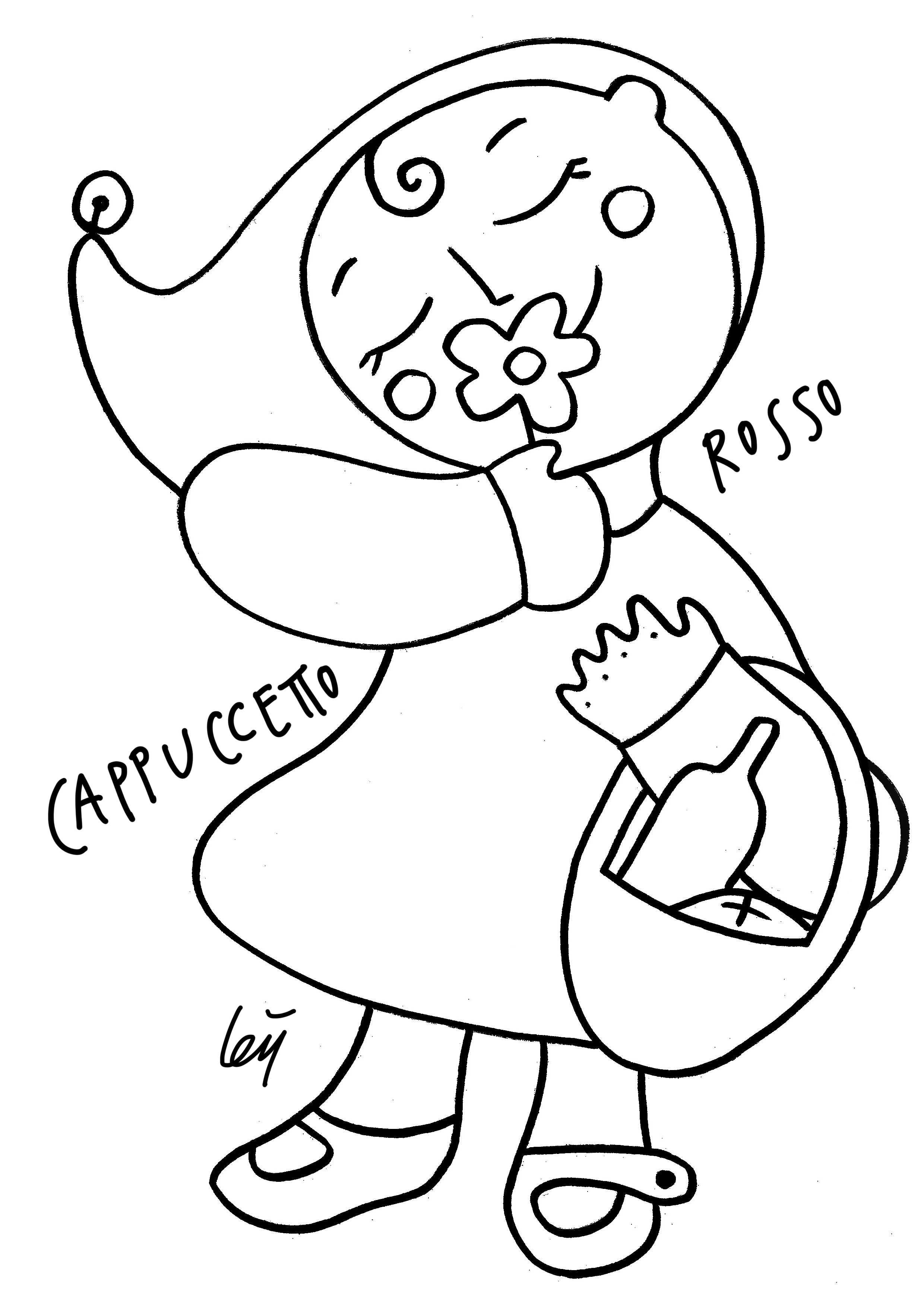 farfallina and marcel coloring pages - photo#10